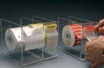 Dévidoirs en acrylique pour étiquettes code-barres