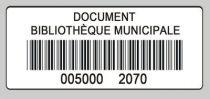 code barres simple numerotation 50x22 blanc