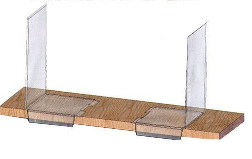 serre livres avec patte de retour droit h205xl125 prof135 mm ep3 mm l 39 unit. Black Bedroom Furniture Sets. Home Design Ideas