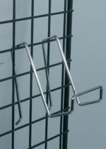 support fil acier grille exposition
