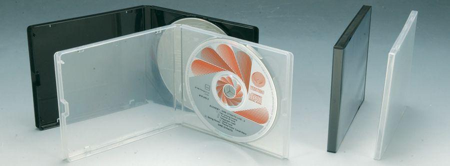 Boîtiers CD incassables 5, 7, 10mm ultra mince