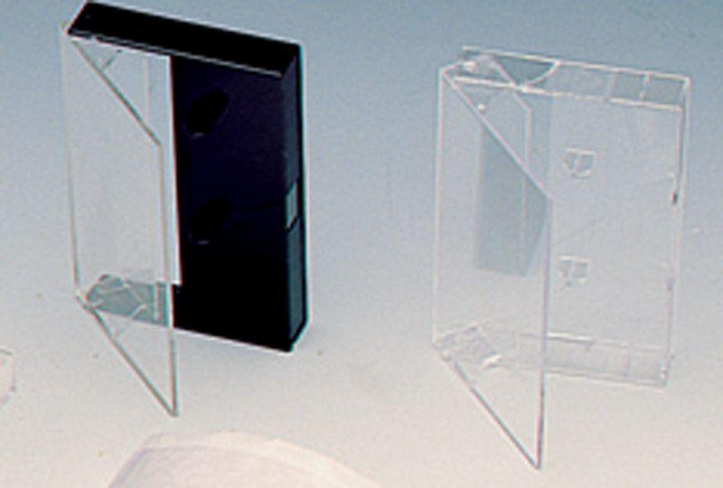boitiers K7 noir transparent