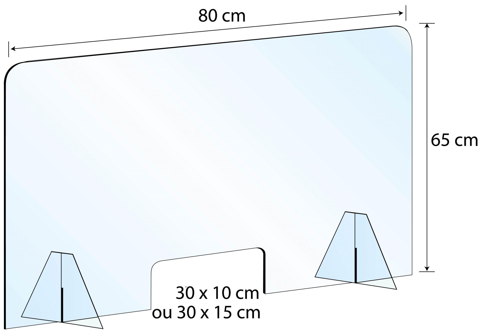 Ecran de protection hygiaphone plexiglas