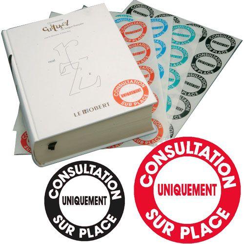 \'Etiquettes \'\'consultation sur place\'\'