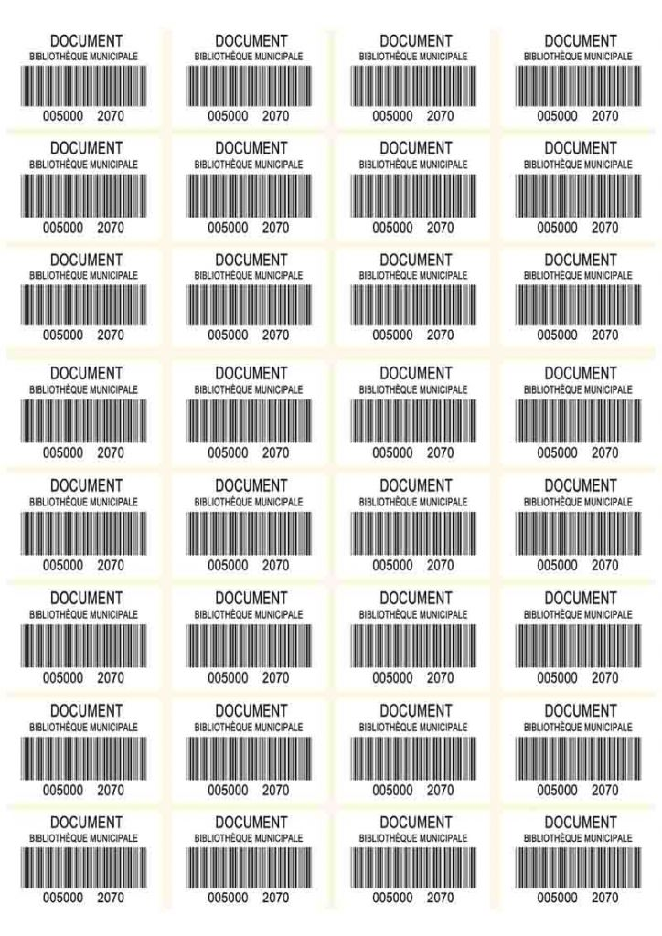 code barres planche 50x30
