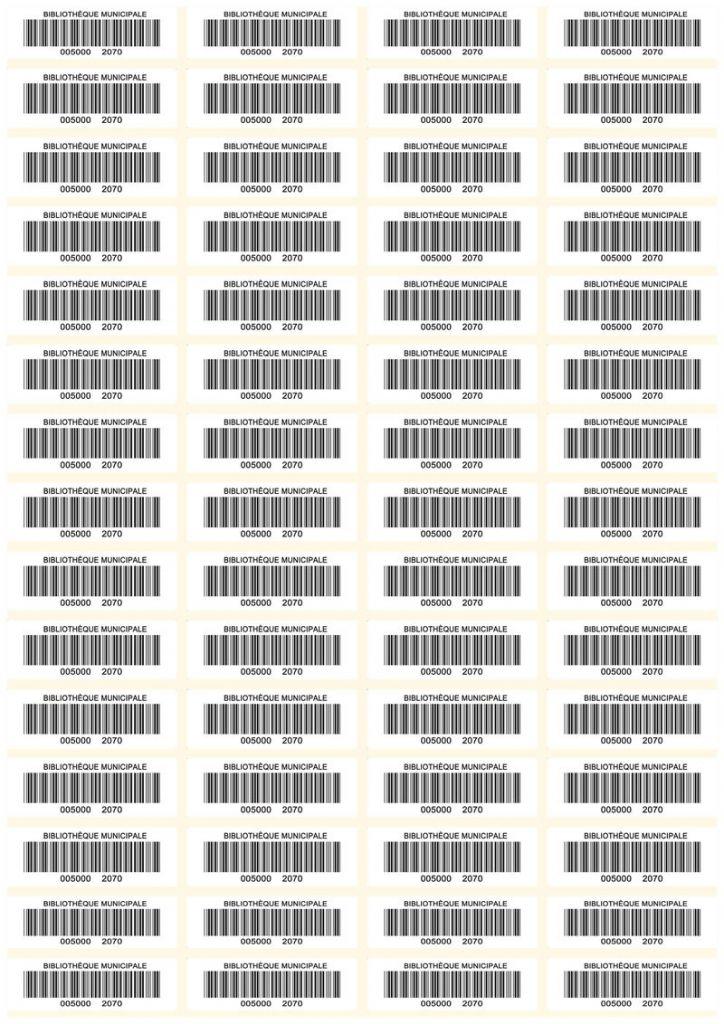 code barres planche 50x16 blanc