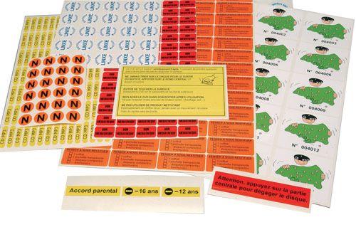 Etiquettes personnalisées PVC