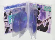 Etui CD multi-volets PVC souple avec rabat velcro et porte étiquette