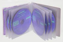 Etuis CD rigide a soufflet 5mm sans rabat en PVC
