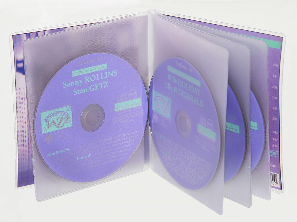 Etuis CD sans rabat intérieur grainé