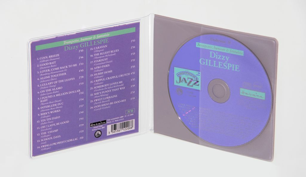 Etuis CD semi rigide en PVC
