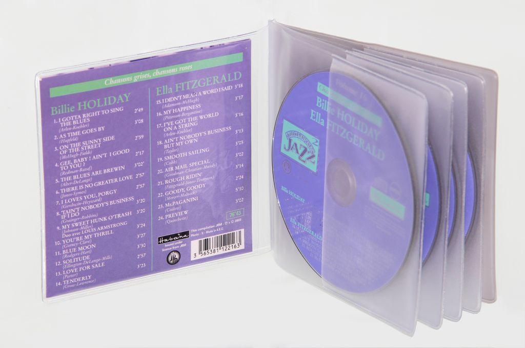 Etuis CD semi rigide sans rabat en PVC