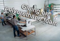 Gluing on polyurethane foam