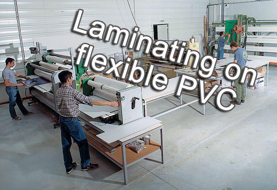 Laminating on flexible PVC