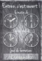 Signalisations panneau horaires